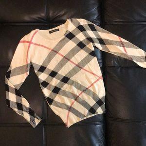 XINCAIYI Sweaters - XINCAIYI Burberry style longsleeve sweater shirt